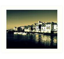 Seaside Town - 2 Art Print