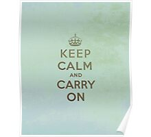 Keep Calm and Carry One Poster
