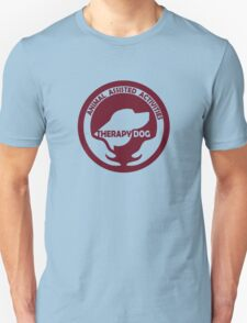 Animal Assisted Activities  - THERAPY DOG logo 1 red Unisex T-Shirt