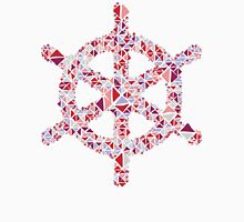 Nautical boat wheel strawberry blueberry geometric pattern Unisex T-Shirt