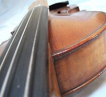 Old Antique Violin- Viewed from the Fingerboard by James Thompson