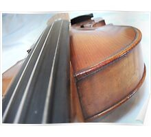 Old Antique Violin- Viewed from the Fingerboard Poster