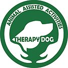 Animal Assisted Activities  - THERAPY DOG logo 1 green by SofiaYoushi