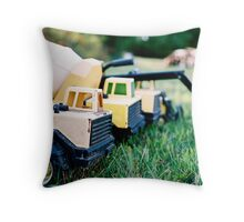 Hard at work and play Throw Pillow