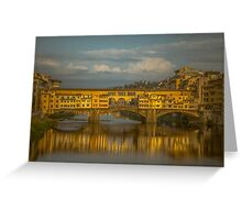 Ponte Vecchio as the sun sets Greeting Card