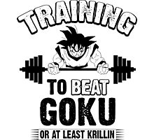 TRAINING TO BEAT GOKU 2 Photographic Print