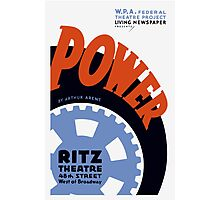 Federal Theatre Project Presents Power -- WPA Photographic Print