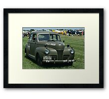 WWII Staff Car Framed Print