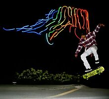Neon Skating! by Andrew Lapierre