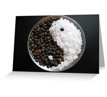 Salt and Pepper Yin and Yang Greeting Card