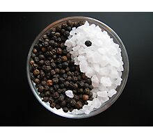 Salt and Pepper Yin and Yang Photographic Print