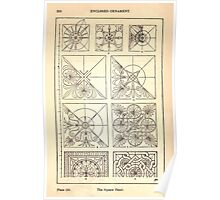 A Handbook Of Ornament With Three Hundred Plates Franz Sales Meyer 1896 0266 Enclosed Ornament Square Panel Poster