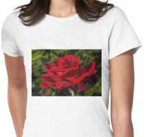 Of Red Roses and Diamonds  Womens Fitted T-Shirt