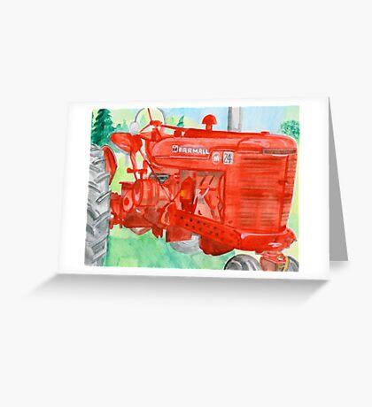 grandpa's tractor Greeting Card