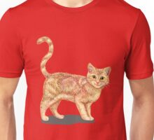 Cute Cat Hand Drawing Unisex T-Shirt