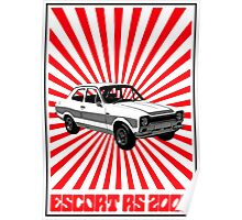 RS 2000 Ford Escort Classic Car  Poster