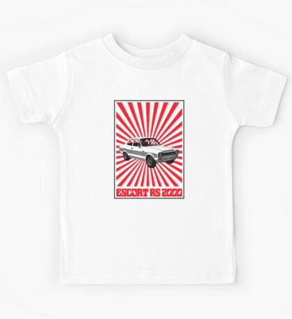 RS 2000 Ford Escort Classic Car  Kids Tee