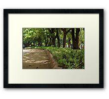Quezon Memorial Circle pathway 21 Framed Print