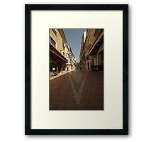 Denia, Spain Streetscape Framed Print