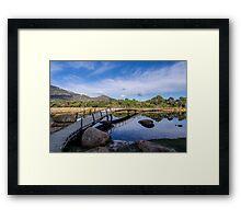 Tidal River Bridge Framed Print