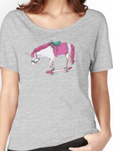 Unicorn on a Skateboard Women's Relaxed Fit T-Shirt