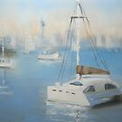 Lazy day on Watsons Bay by Tash  Luedi Art
