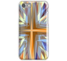 Religious cross starburst pattern iPhone Case/Skin