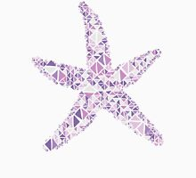 Nautical starfish lilac lavender grape geometric pattern   Unisex T-Shirt