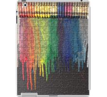 Melted Crayon Art - Puzzle  iPad Case/Skin