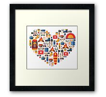 Hiking and tourism love Framed Print