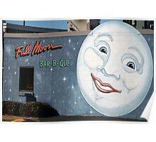 Wall Mural, Blue Moon Bar- B- Que Poster