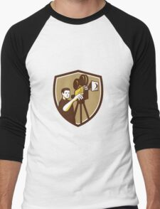 Movie Director Movie Film Camera Shield Retro T-Shirt