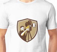 Movie Director Movie Film Camera Shield Retro Unisex T-Shirt