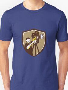 Movie Director Movie Film Camera Shield Retro T-Shirt