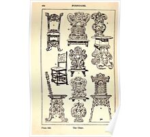 A Handbook Of Ornament With Three Hundred Plates Franz Sales Meyer 1896 0440 Furniture Chair Poster
