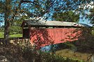 The Gottlieb Brown Covered Bridge In Summer by Gene Walls