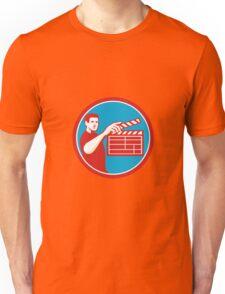 Film Crew Clapperboard Circle Retro Unisex T-Shirt