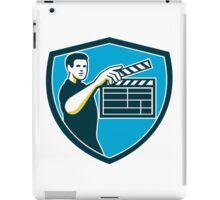 Film Crew Clapperboard Shield Retro iPad Case/Skin