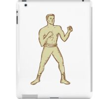 Vintage Boxer Pose Etching iPad Case/Skin