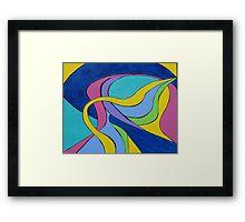 Yellow Ribbon Geometric Framed Print