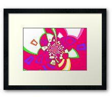 Colourful Shape Vortex Framed Print
