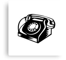 Telephone Vintage Woodcut Canvas Print