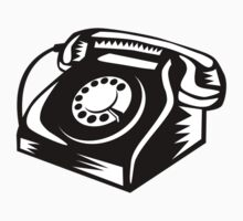 Telephone Vintage Woodcut by patrimonio