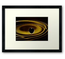 Ripples of the Heart Framed Print