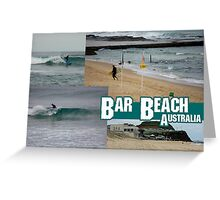 Surfing At Bar Beach Greeting Card