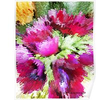ABSTRACT FLOWERS  Poster