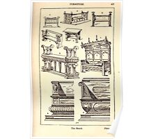 A Handbook Of Ornament With Three Hundred Plates Franz Sales Meyer 1896 0453 Furniture Bench Poster