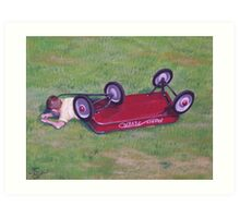 Crash of the Radio Flyer. Art Print