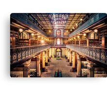 Let's Retire To The Library Canvas Print
