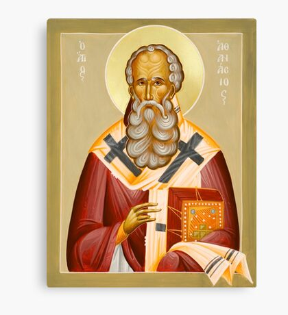 St Athanasios the Great Canvas Print